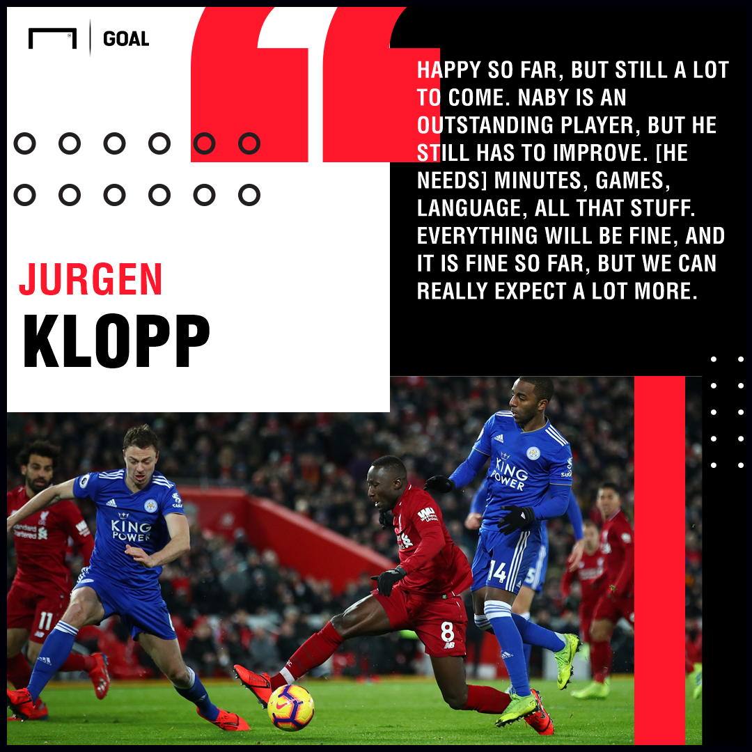 Naby Keita Jurgen Klopp Liverpool PS