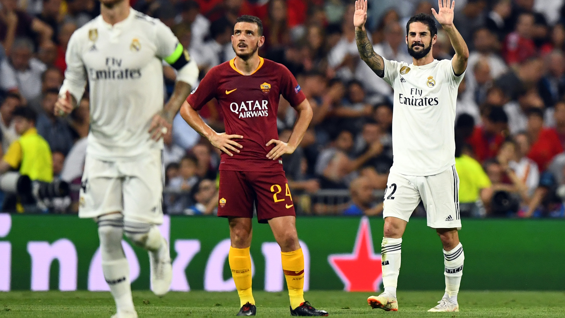 Florenzi Isco Real Madrid Roma Champions League