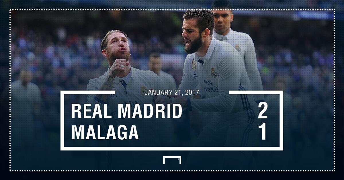Real Madrid Malaga result
