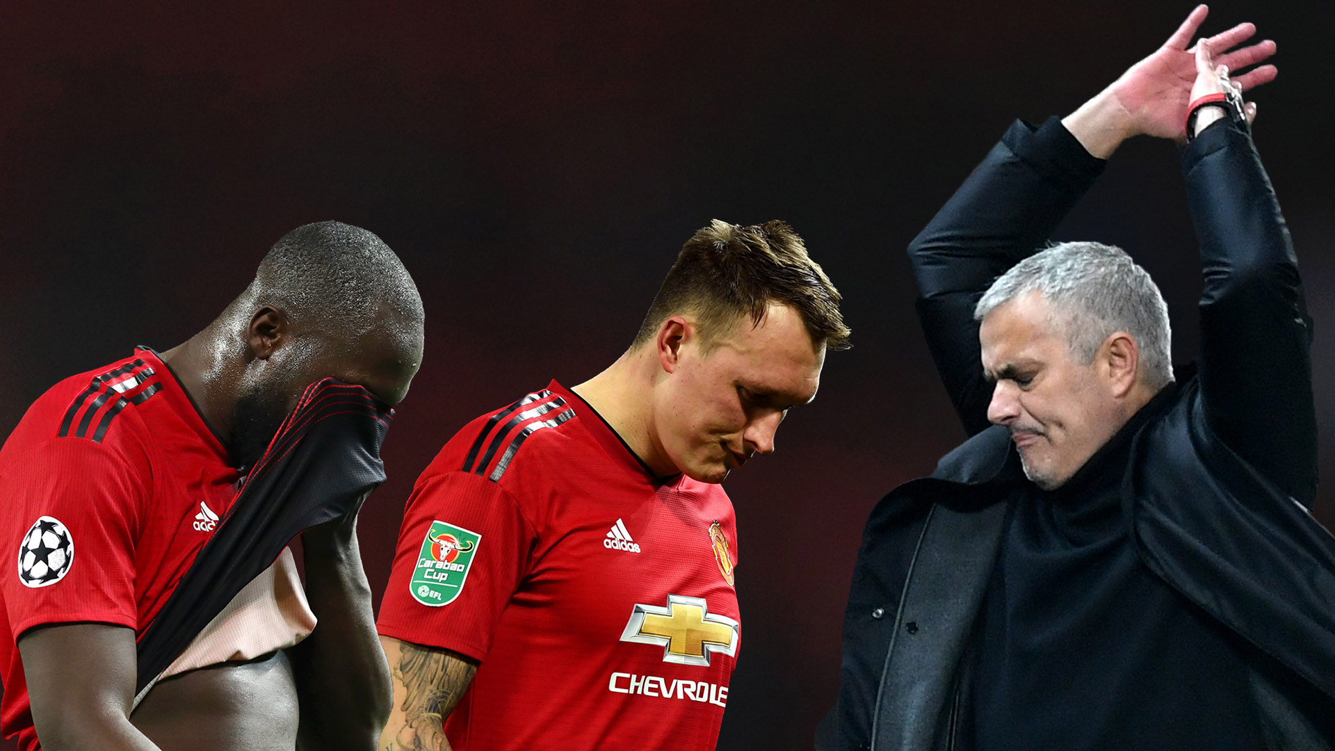 Romelu Lukaku Phil Jones Jose Mourinho Man Utd 2018