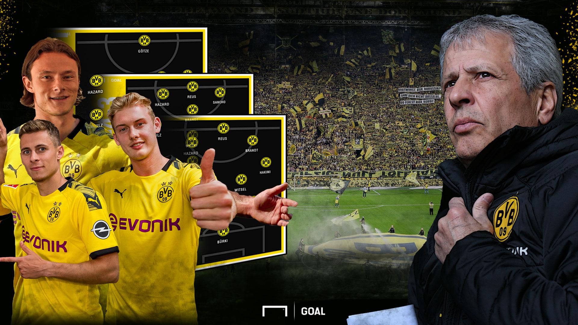GFX BVB Julian Brandt Nico Schulz Thorgan Hazard Julien Brandt