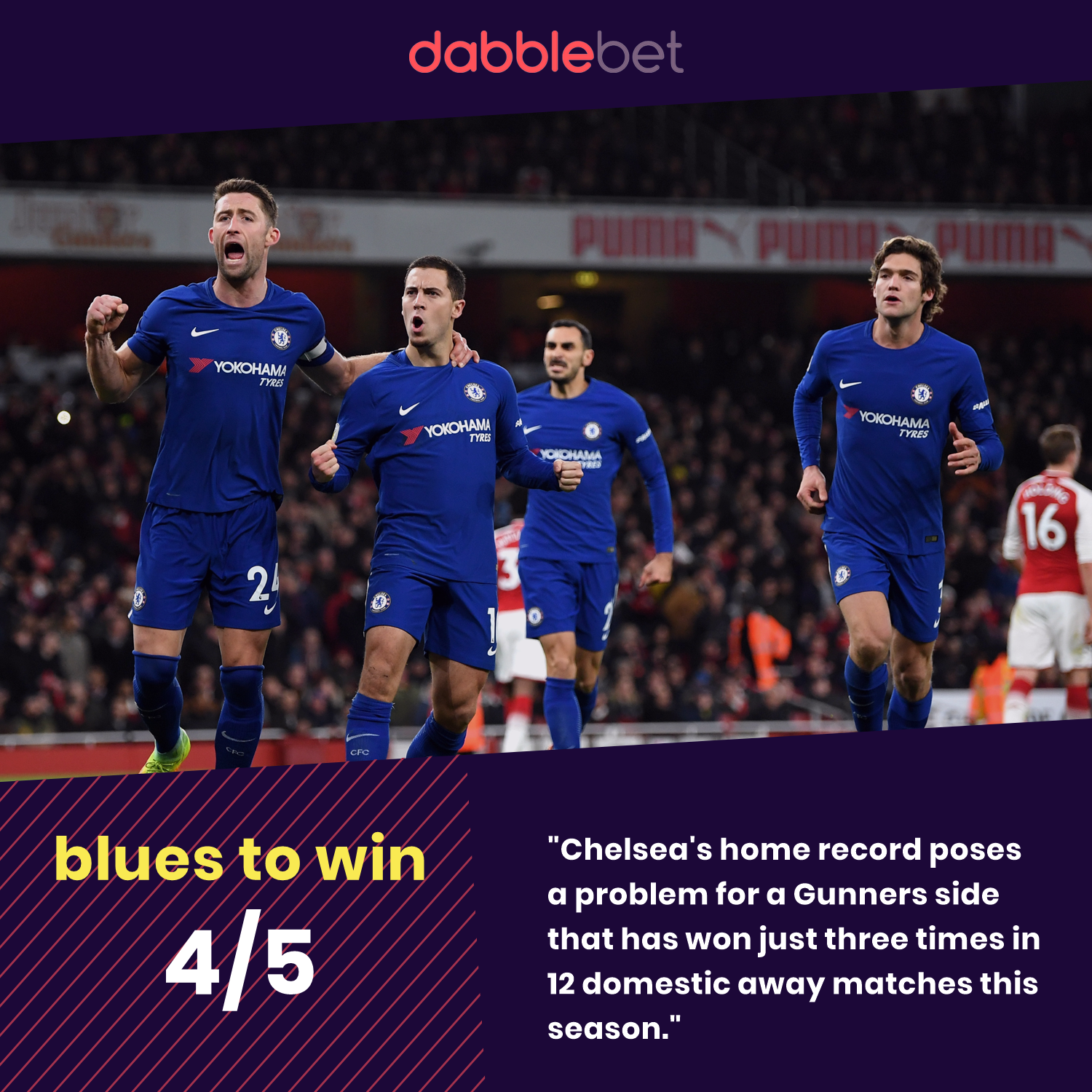 Chelsea Arsenal EFL Cup graphic