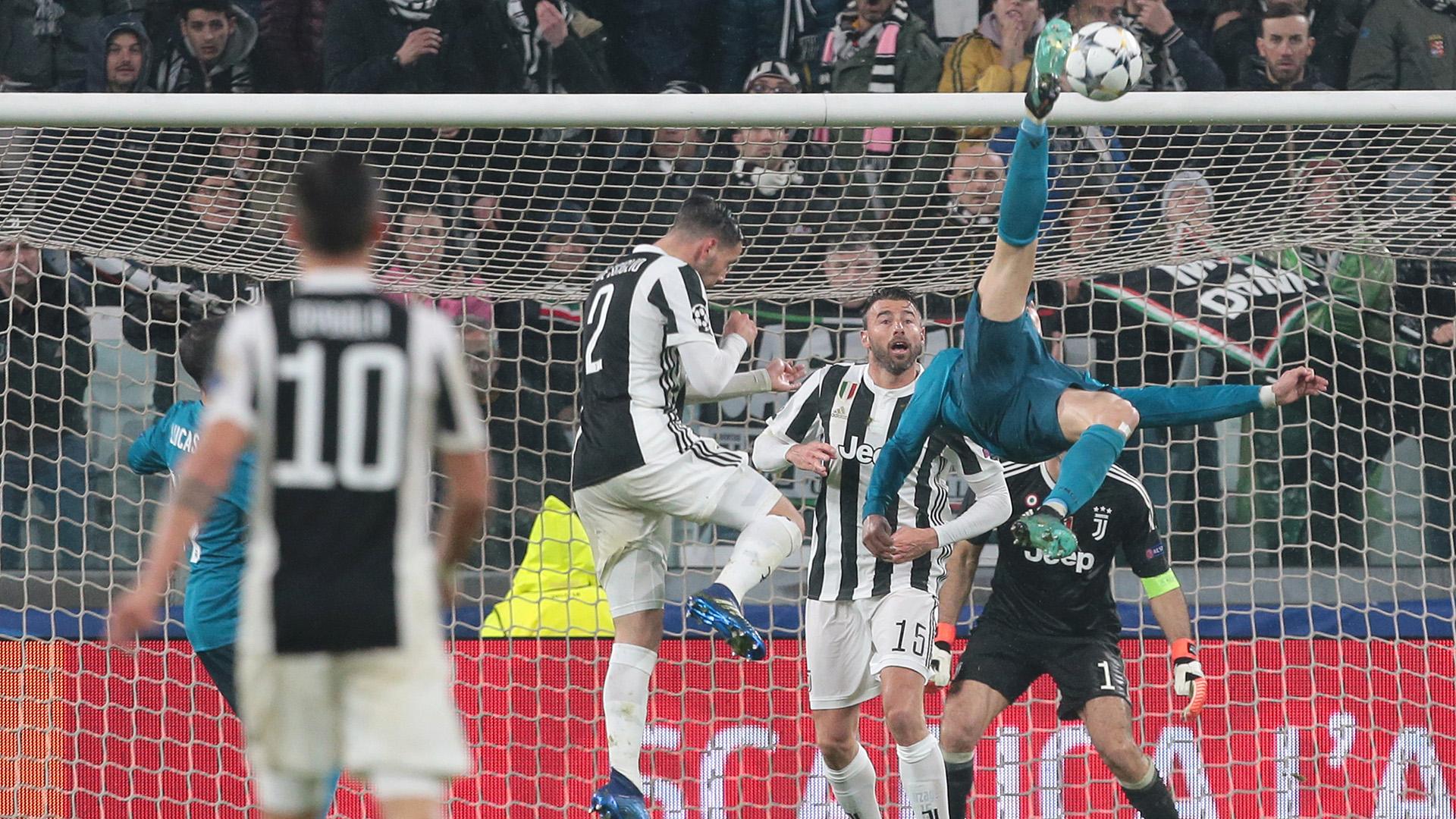 Cristiano Ronaldo Real Madrid Juventus bicycle kick goal Champions League 2017