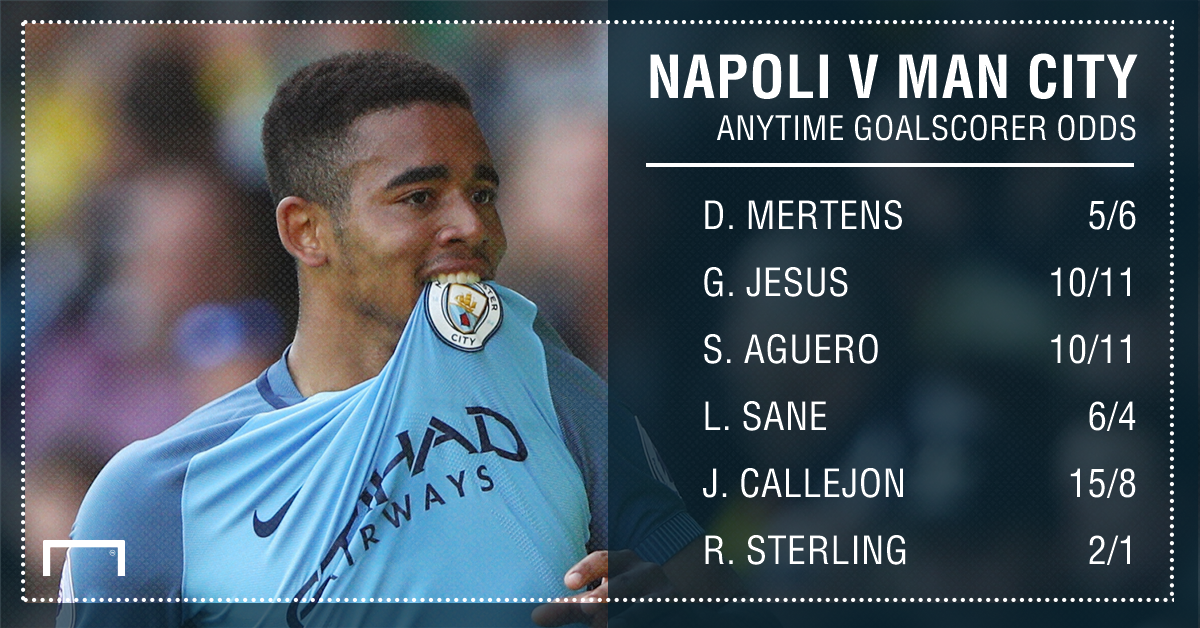 Napoli manchester City goalscorer graphic