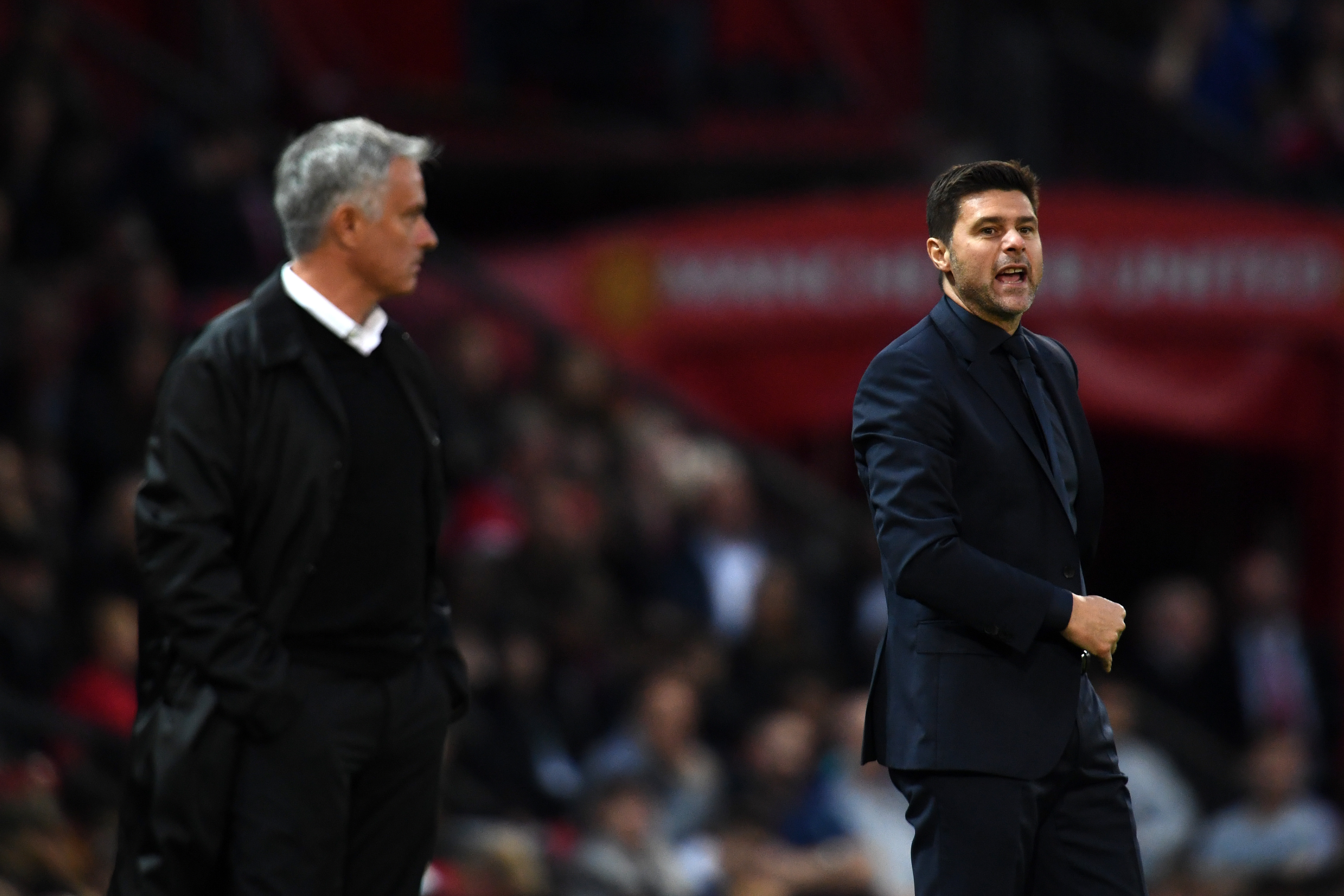 José Mourinho & Mauricio Pochettino - Manchester United v Tottenham Hotspur