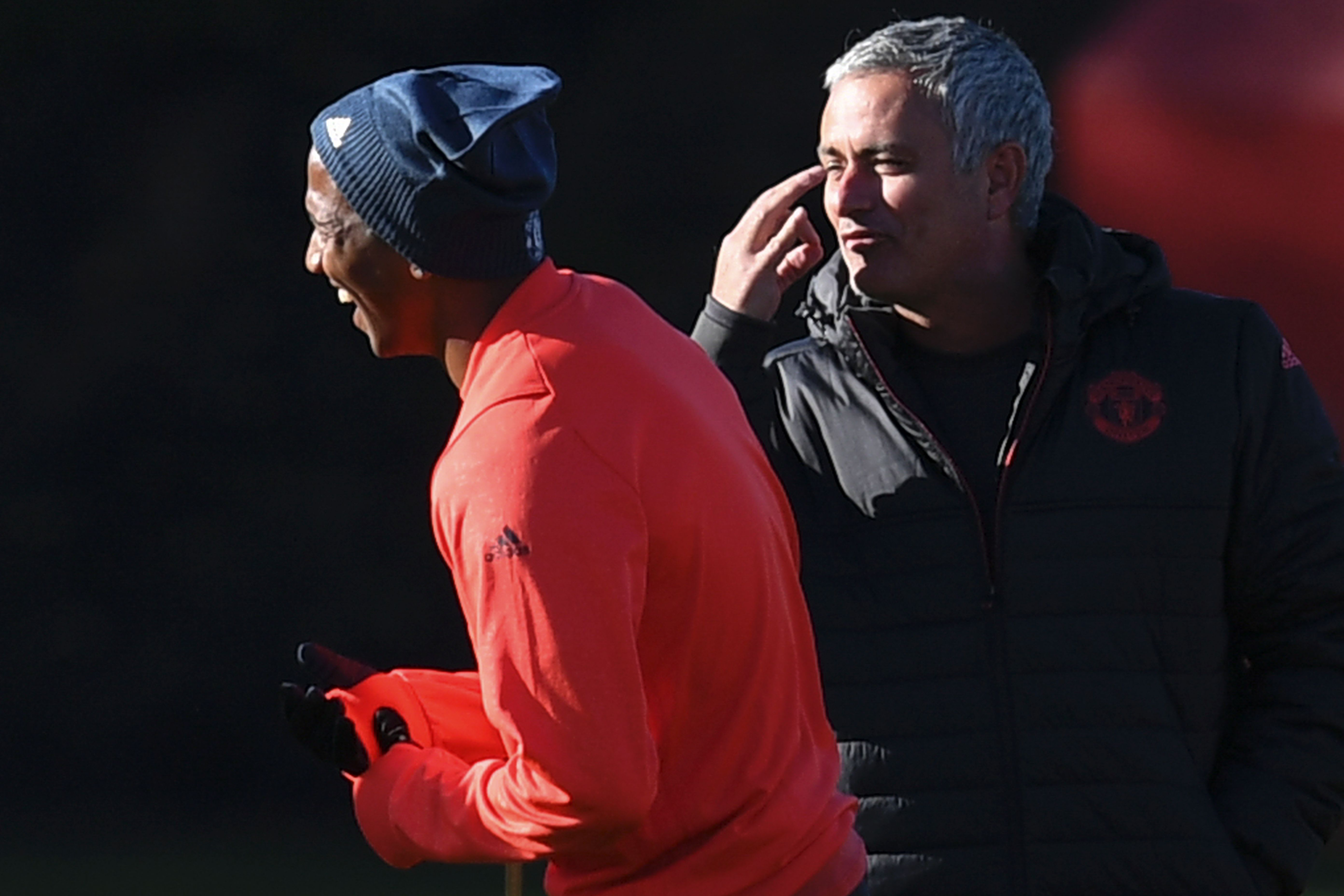 Ashley Young Jose Mourinho Manchester United
