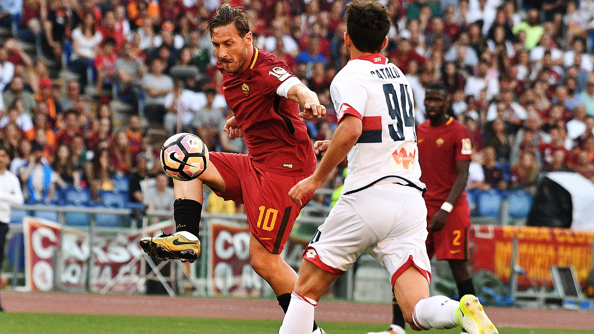 Francesco Totti Roma Genoa Serie A