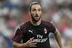 Gonzalo Higuain Real Madrid Milan Friendlies 08112018