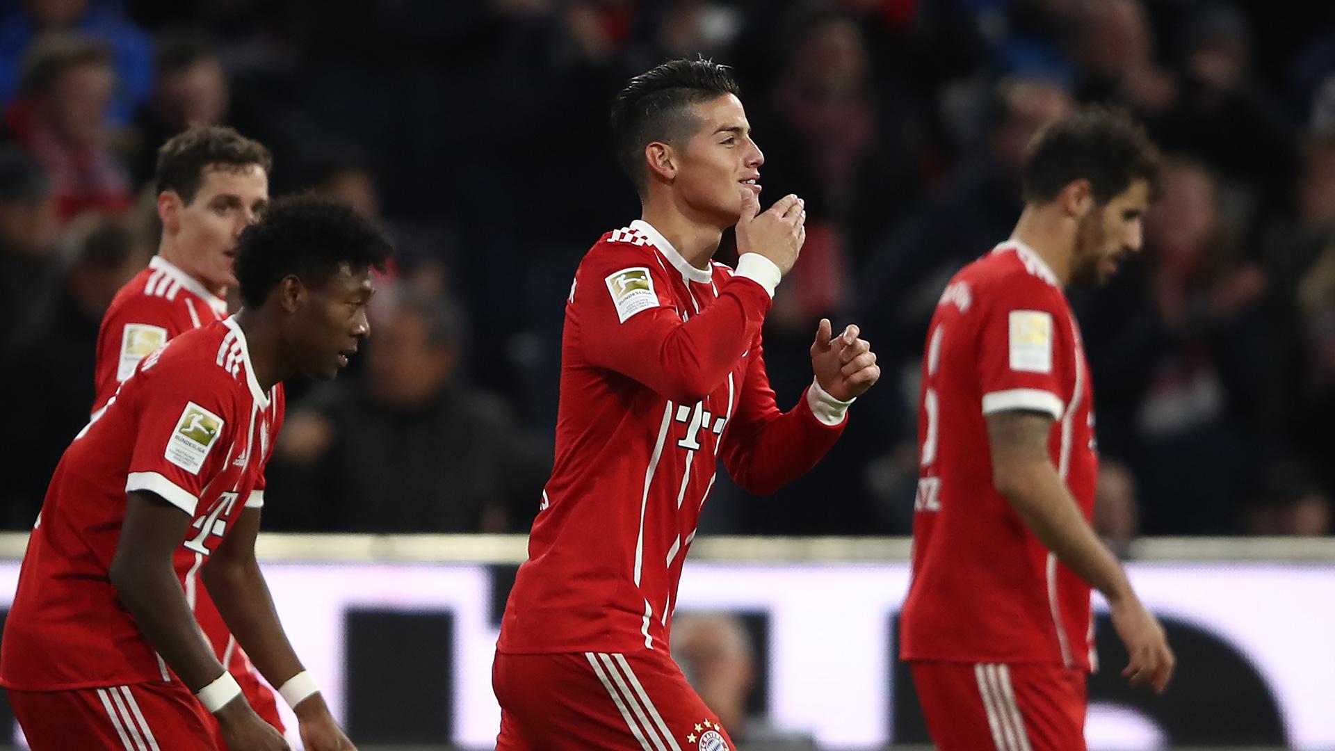 James Rodriguez Bayern München Munich Bundesliga 28102017