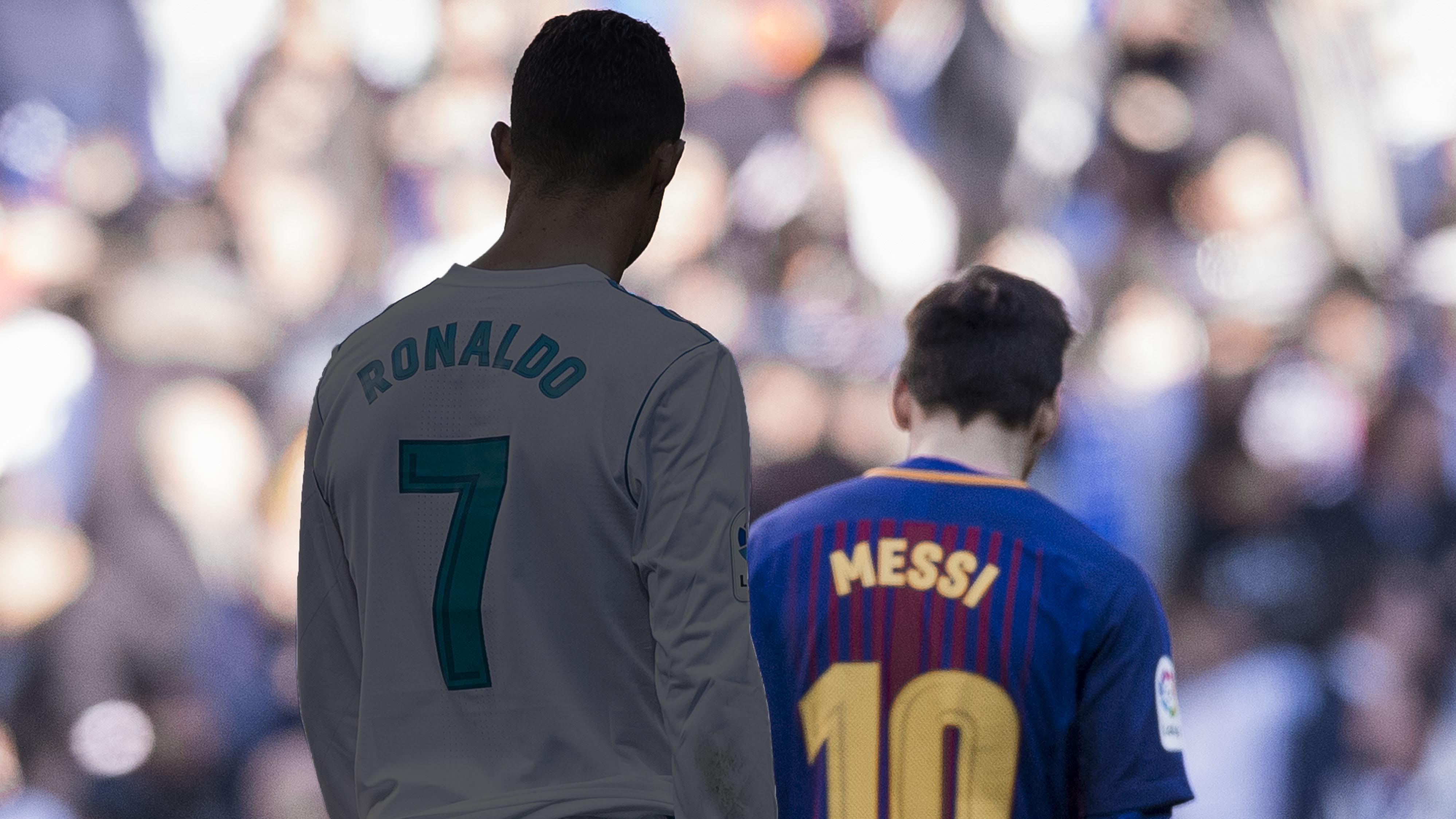 Cristiano Ronaldo Lionel Messi Real Madrid Barcelona 2017-18