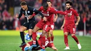 Neymar Mohamed Salah PSG Liverpool Champions League 18092018