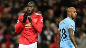 Romelu Lukaku Fabian Delph Manchester City Manchester United Premier League