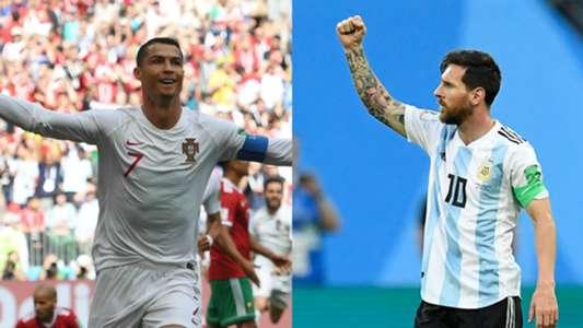 Cristiano Ronaldo Lionel Messi collage