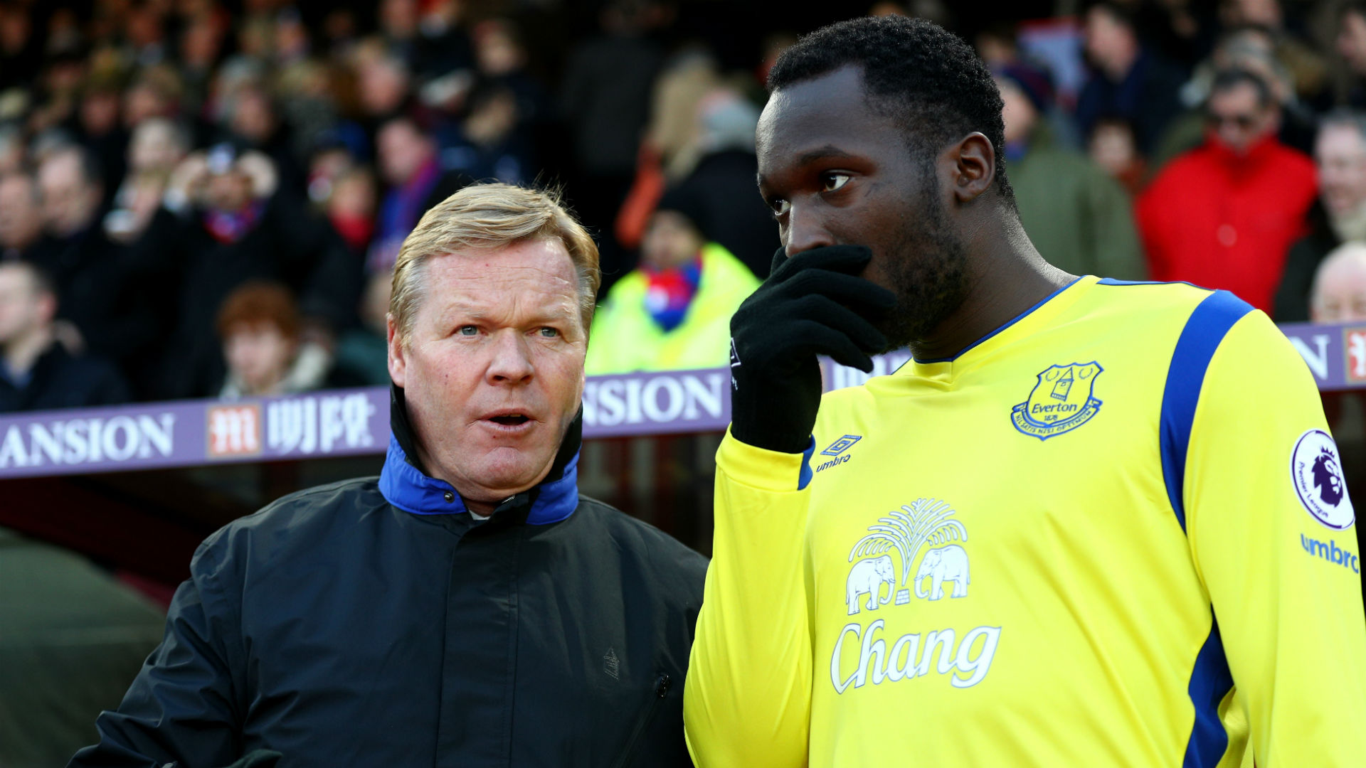 Ronald Koeman and Romelu Lukaku