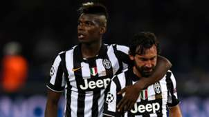 Paul Pogba Andrea Pirlo Juventus v Barcelona Champions League final 2015