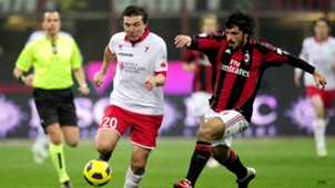 Vitali Kutuzov Gennaro Gattuso Milan Bari Serie A 01202011