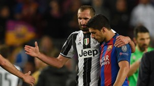 Chiellini Luis Suarez Barcelona Juventus Champions League