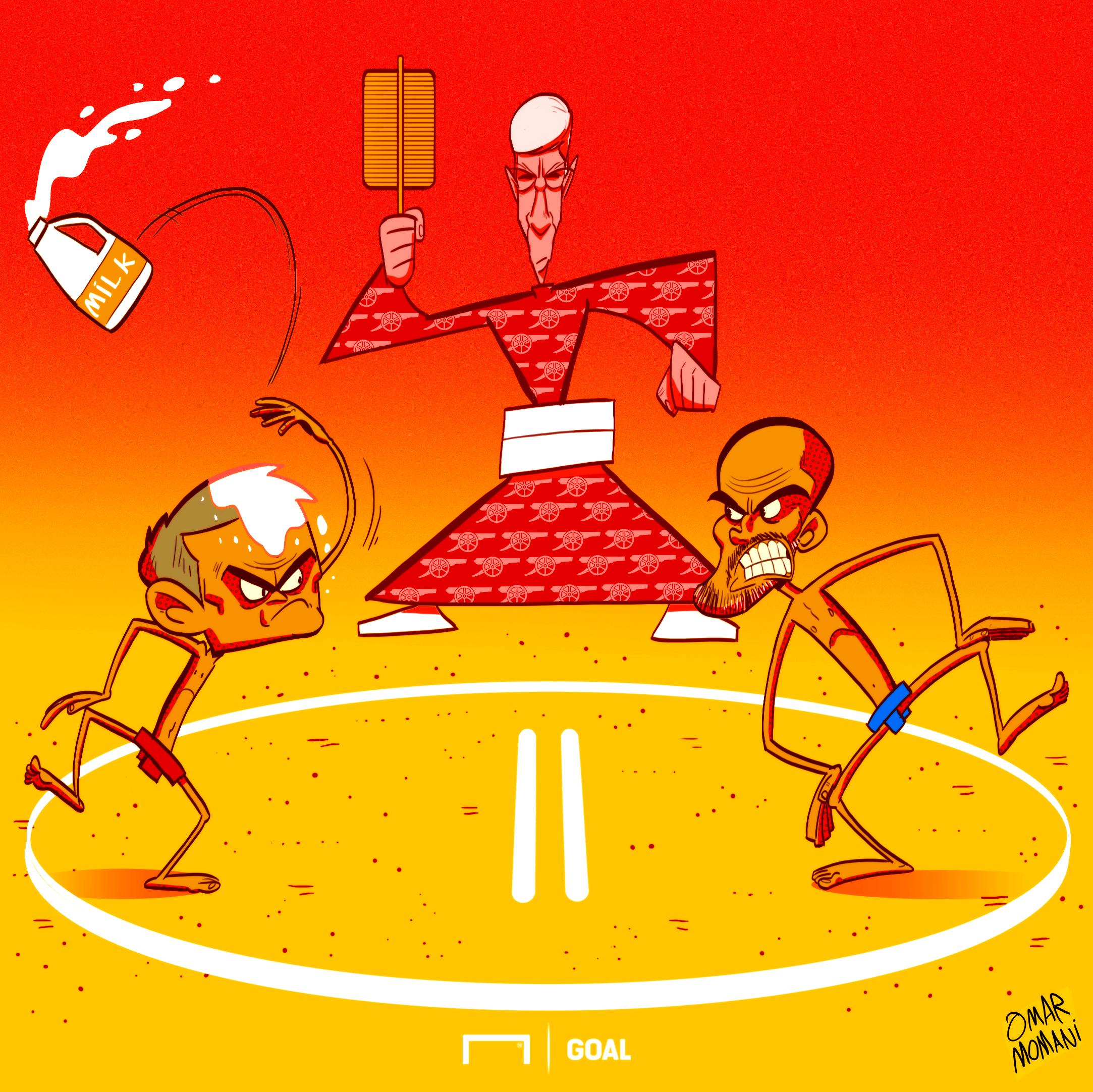 Mourinho Guardiola Cartoon