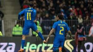 Philippe Coutinho Dani Alves Russia Brazil 23032018 Friendly