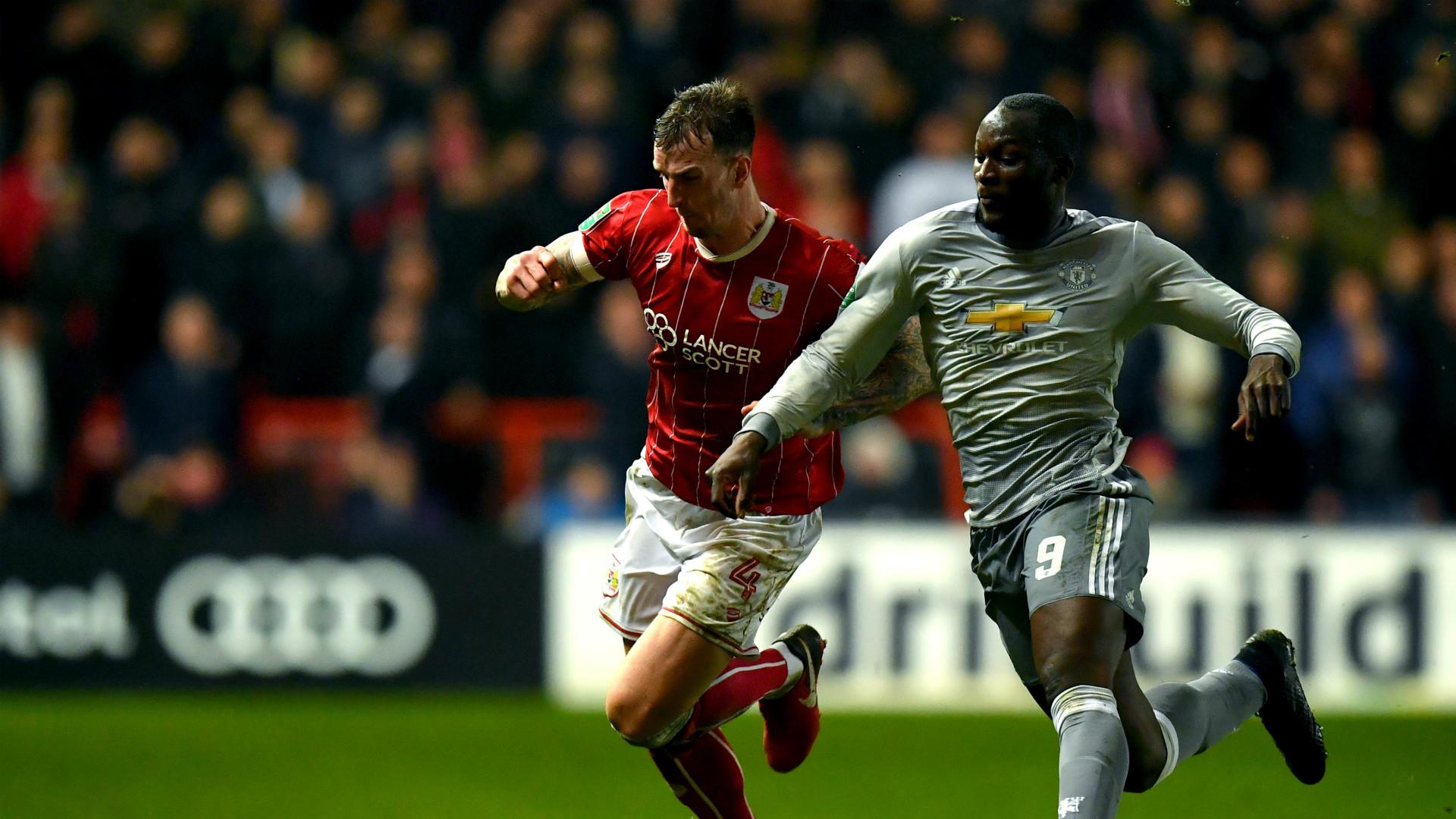 Romelu Lukaku Manchester United Bristol