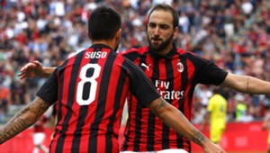 Higuain Suso Milan Chievo