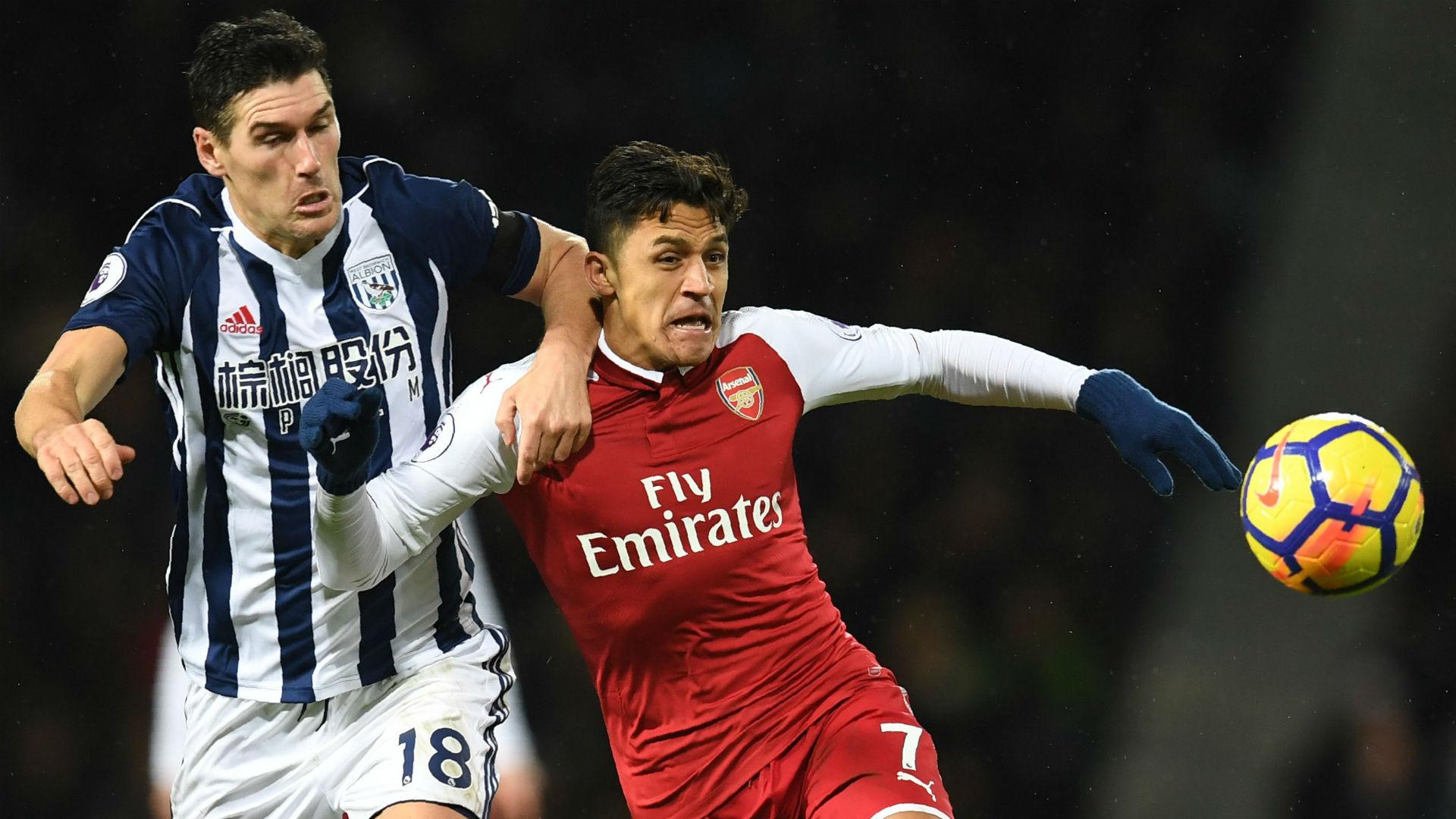 Gareth Barry West Brom Alexis Sanchez Arsenal