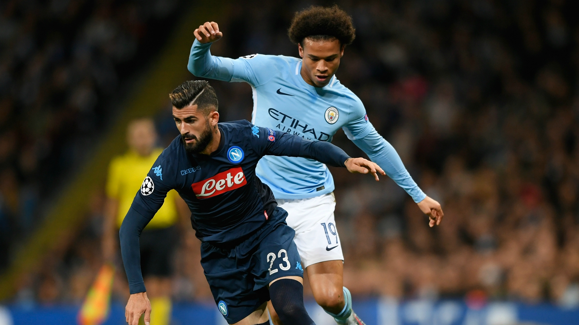 Elseid Hysaj Manchester City Napoli UEFA Champions League 10172017
