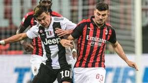 Dybala Cutrone Milan Juventus