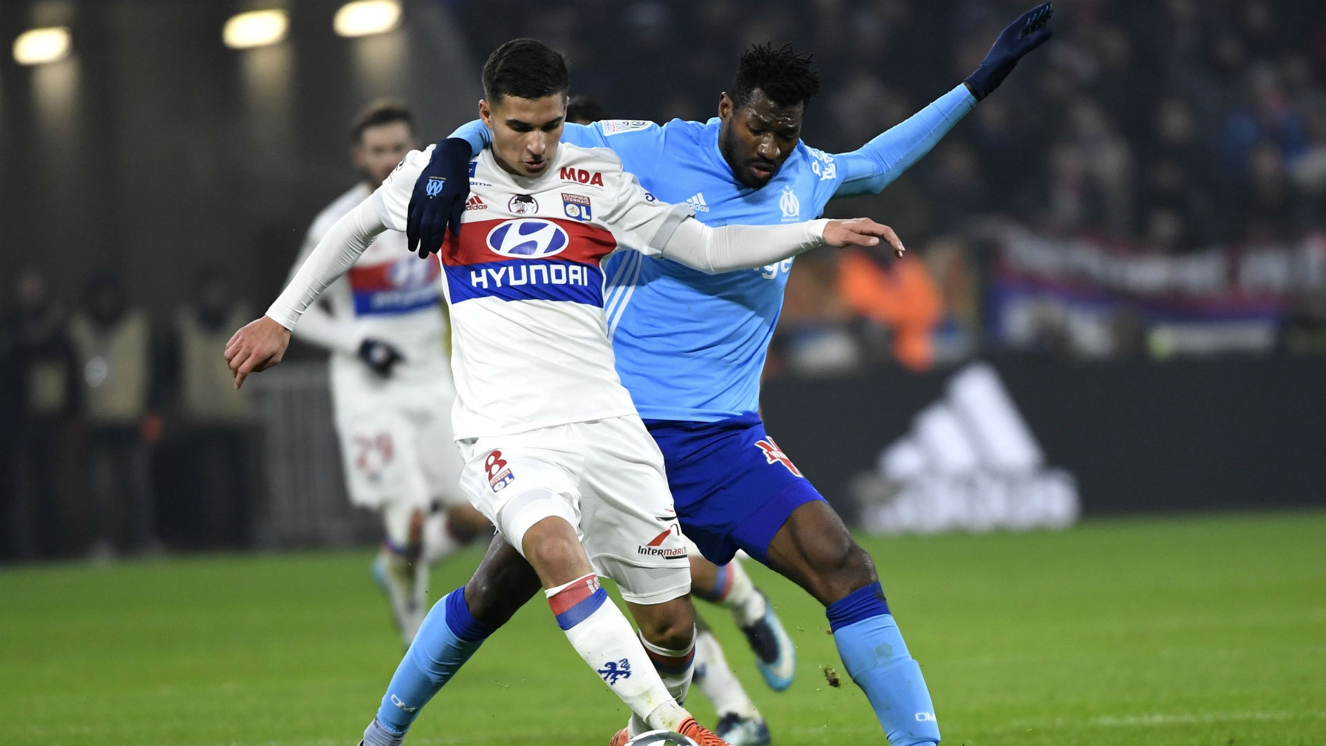 Houssem Aouar Andre-Frank Zambo Anguissa Lyon Marseille Ligue 1 17122017