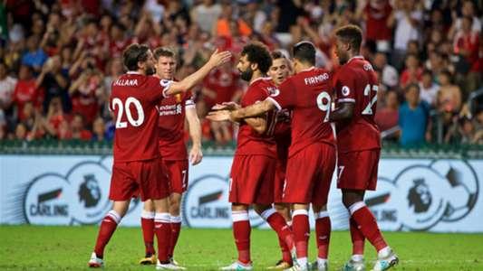 HD Lallana Salah Liverpool celebrate