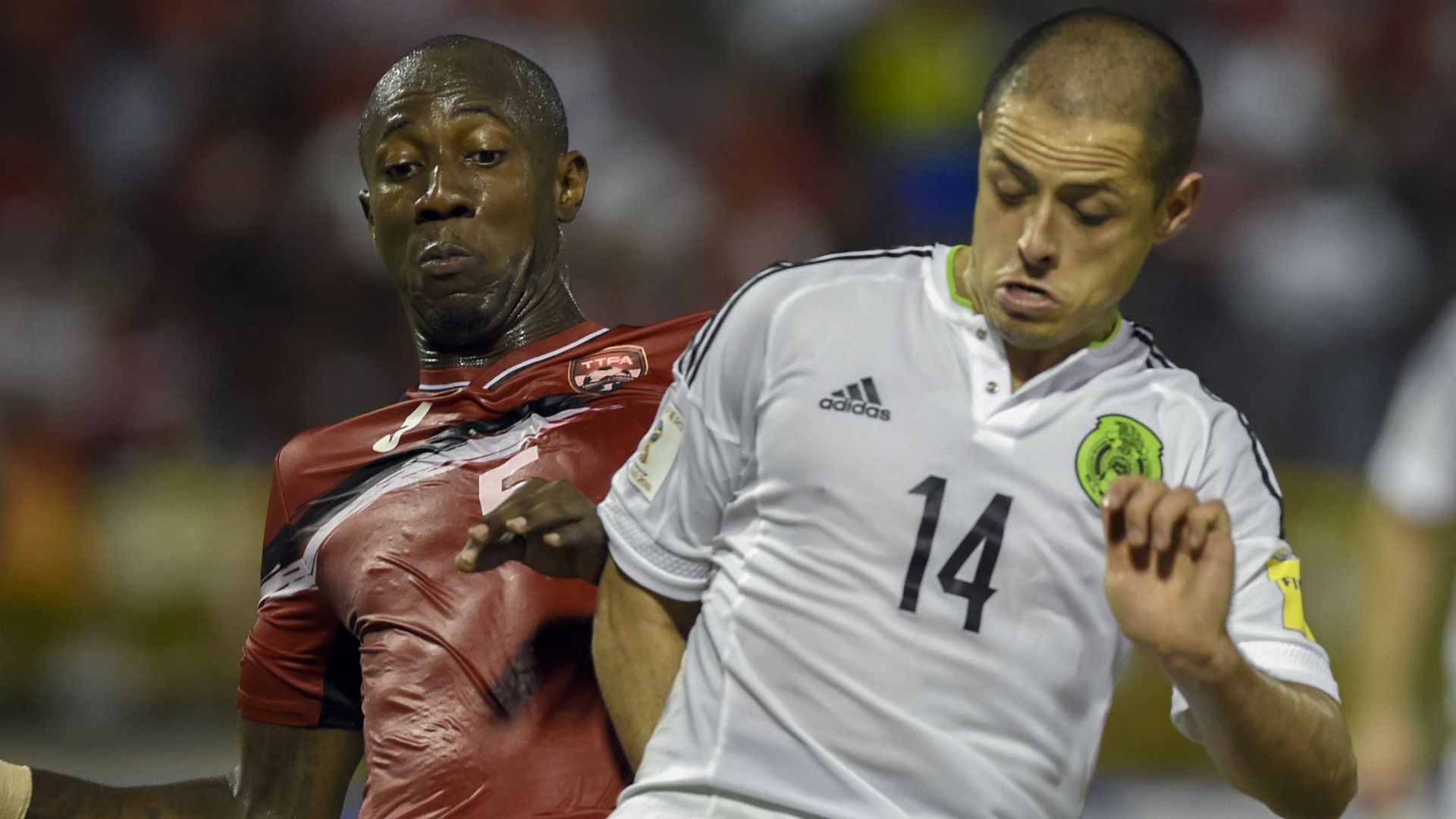 Javier Hernandez Daneil Cyrus Mexico vs. Trinidad and Tobago