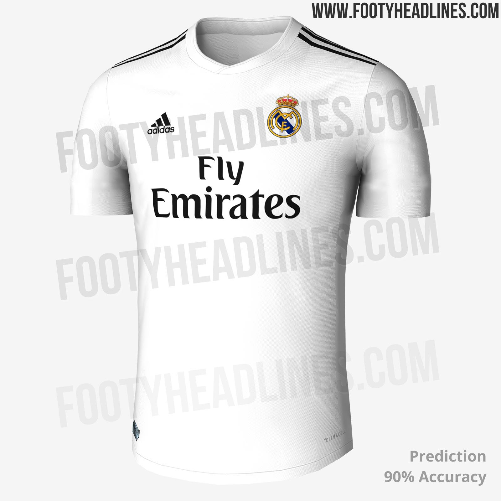 f9107269779 Sieht So Das Neue Heimtrikot Von Real Madrid 2018 19 Aus Goal Com. Real  Madrid Home Shirt ...