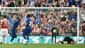 Antonio Rudiger goal Arsenal Chelsea ICC 2018