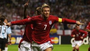 David Beckham England Argentina 2002 World Cup