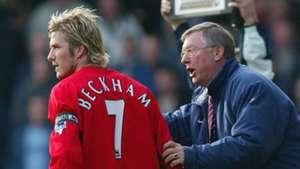 David Beckham Sir Alex Ferguson Man Utd