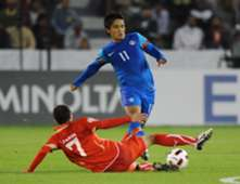 Sunil Chhetri Bahrain India AFC Asian Cup 2011