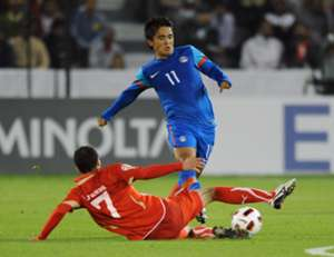 Sunil Chhetri Bahrain India AFC Asian Cup 2011