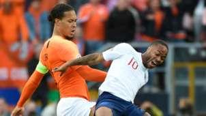 Virgil van Dijk Raheem Sterling Netherlands England 2019