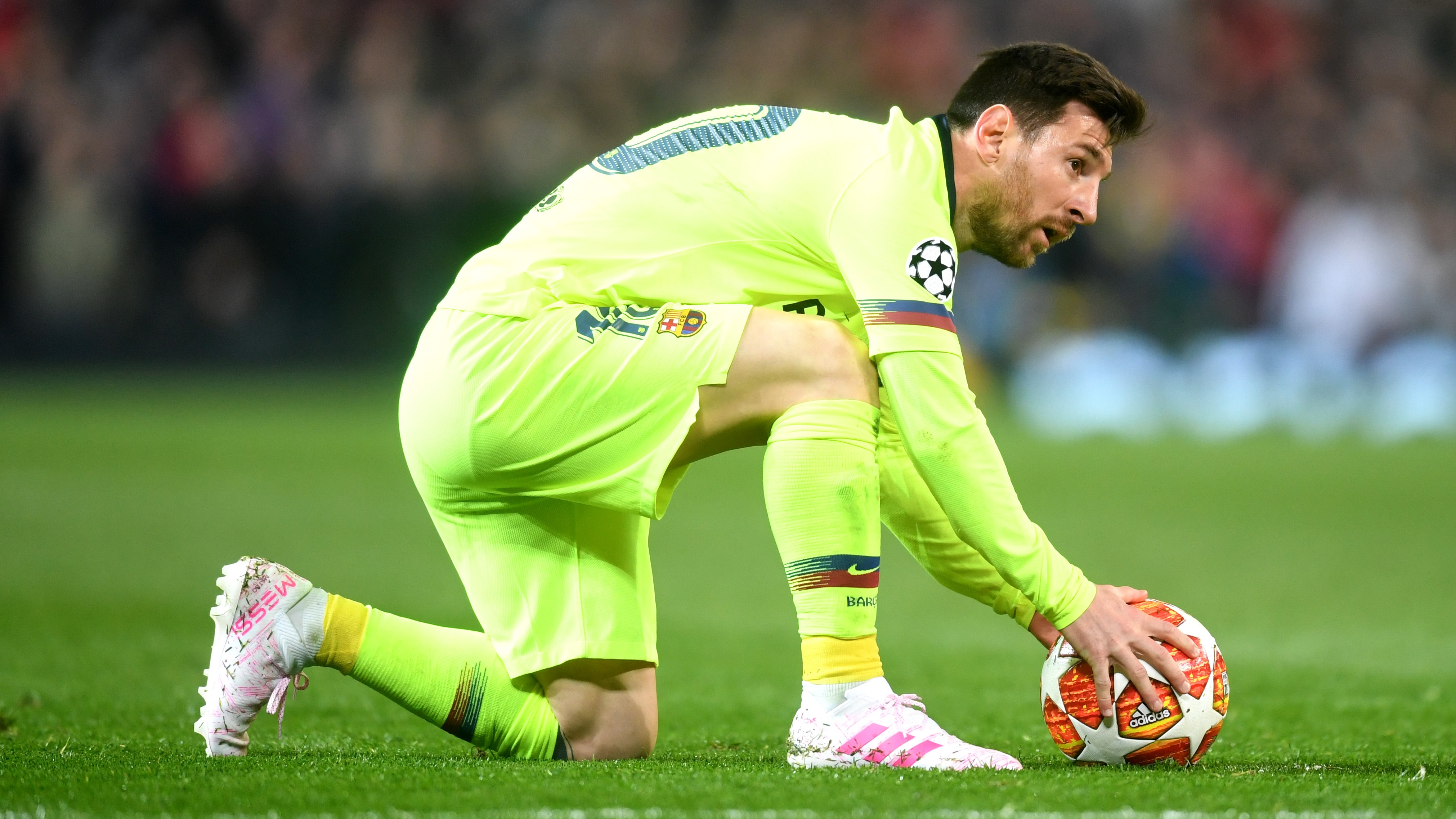 Lionel Messi Manchester United Barcelona UCL 10042019