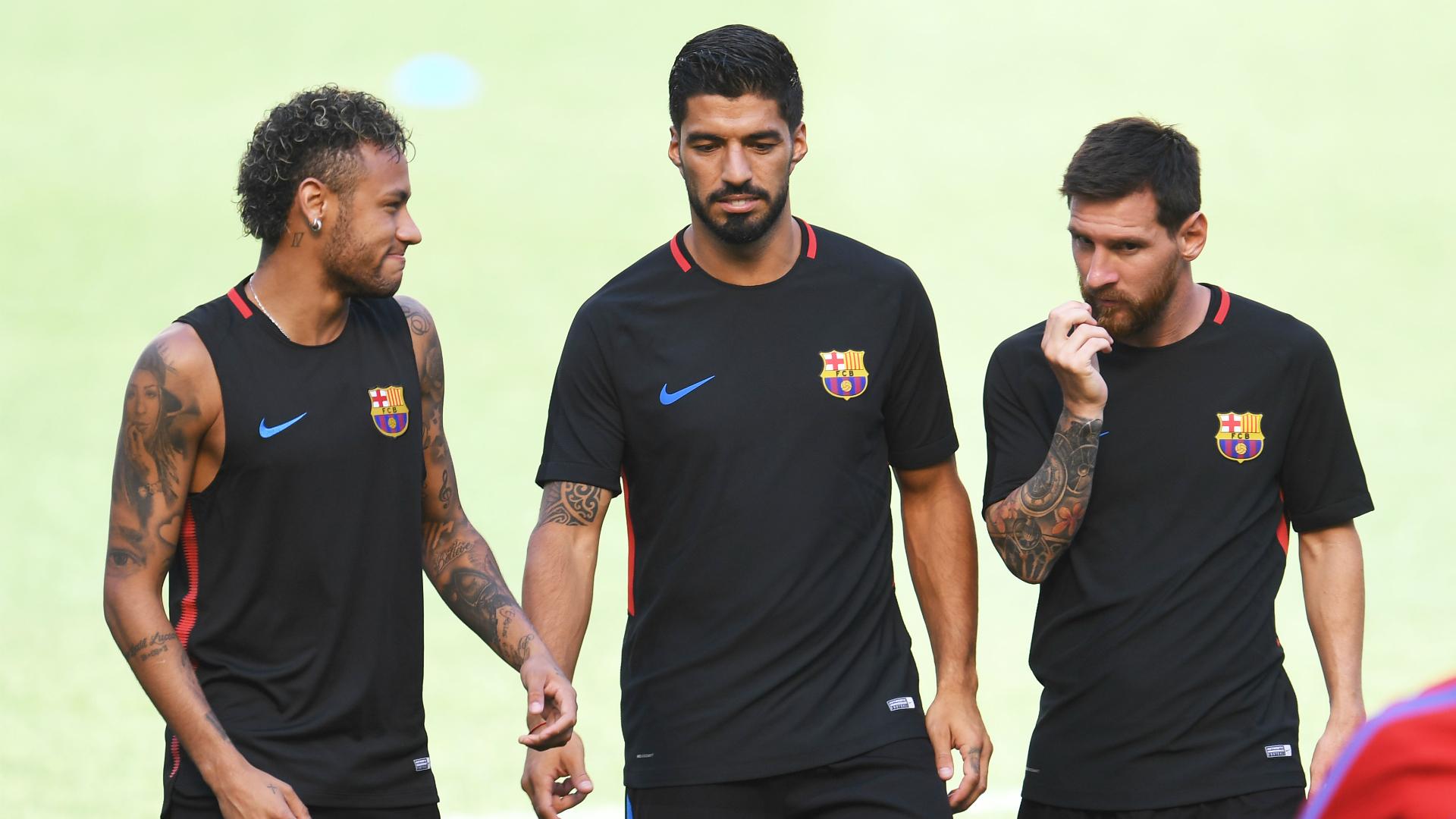 Neymar Luis Suarez Lionel Messi Barcelona