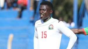 Harambee Stars defender Robinson Kamura.
