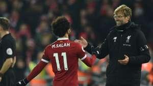 Jurgen Klopp Mohamed Salah Liverpool 14012018