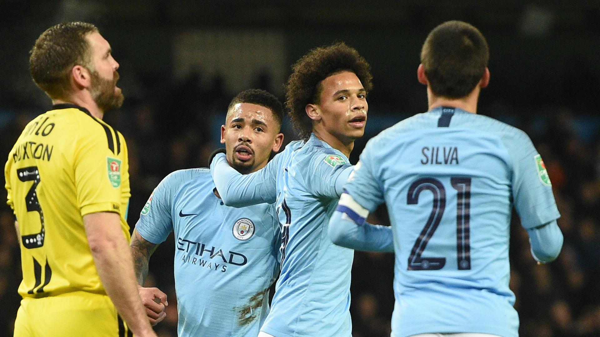 Sane Jesus Burton Manchester City 2018-19
