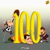 Messi 100 goals cartoon