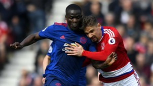 Eric Bailly Manchester United Gaston Ramirez Middlesbrough