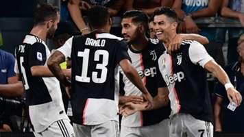 Juventus Napoli celebrating