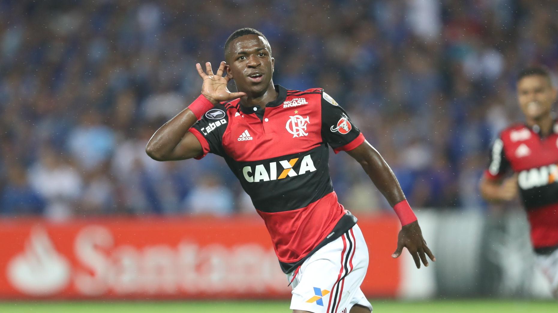 Vinícius Junior Flamengo Emelec Libertadores 15 03 2018