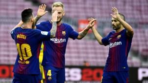Lionel Messi Andres Iniesta Ivan Rakitic Camp Nou Barcelona Las Palmas LaLiga 01102017