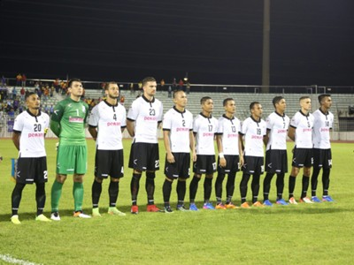 Pulau Pinang's first eleven against Selangor 21/1/2017