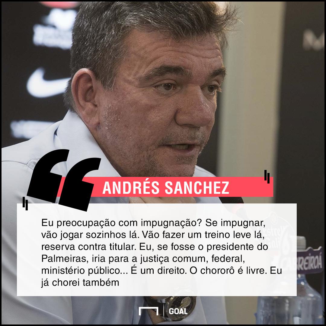 Andrés ataca o Palmeiras e 'abre' negócios do rival